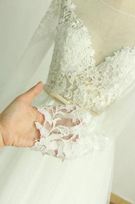 Schöne Brautkleider A Linie | Hochzeitskleider mit Ärmel_5