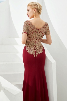 Evening dresses long glitter | Red prom dresses with sleeves_9