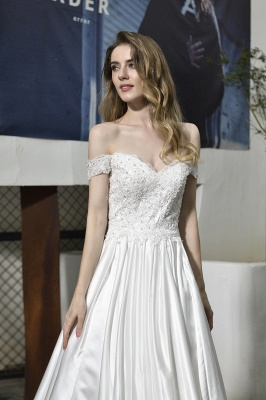 Simple wedding dresses cheap | Wedding dress A line_5