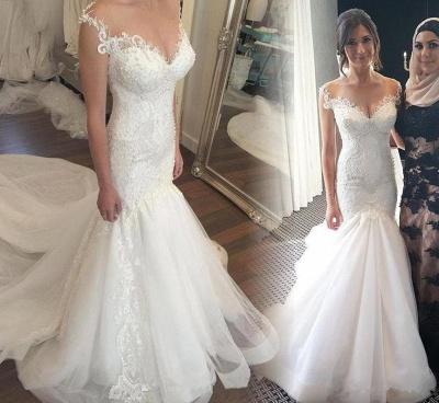 Made to measure wedding dresses white lace mermaid straps wedding fashions bridal fashions_6