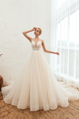 Elegant wedding dresses A line | Wedding dresses with lace online_6