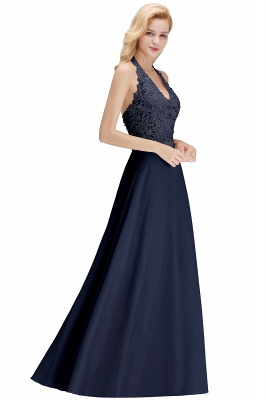 Silver Evening Dresses Long V Neck | Evening dress with lace_23