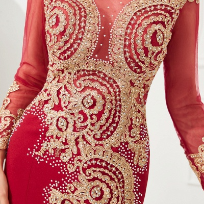 Evening dress long red | Prom dresses with sleeves_16