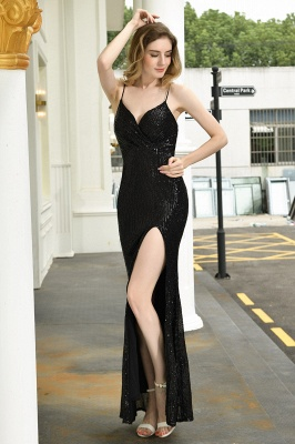 Evening dress long black | Prom dresses with glitter_10