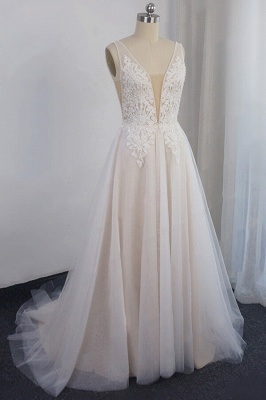 Elegant wedding dresses with lace | Wedding Dress A Line Online_1