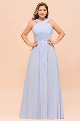 Lavender Brautjungfernkleider Große Größe | Chiffon Kleider Lang Günstig_5