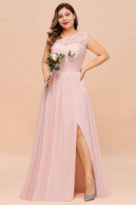 Elegante Brautjungfernkleider Lang Rosa | Brautjungfernkleid mit Spitze_7