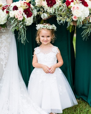 Flower girl dresses white | Children's flower girl dresses_2