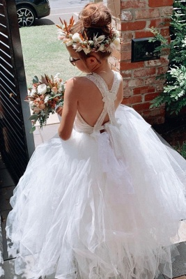 Flower girl dress lace | Flower girl dresses cheap tulle_1