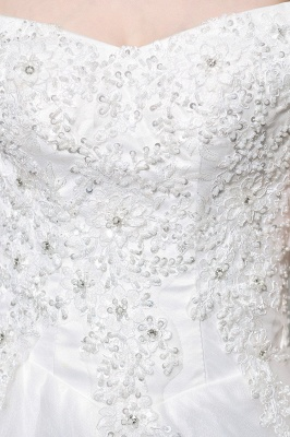 Beautiful wedding dresses with lace | Wedding dress A line_11