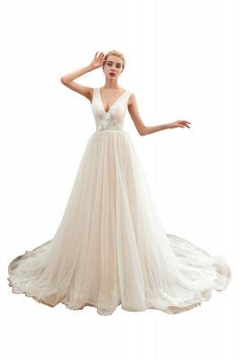 Elegante Hochzeitskleid A linie | Brautkleider Chiffon Günstig Online_1