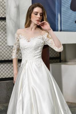 Standamt Hochzeitskleid A Linie | Brautkleider Lange Ärmel_9