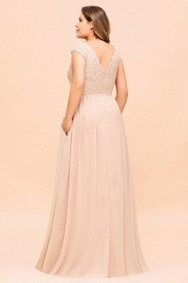 Champagne Übergroße Brautjungfernkleider | Brautjungfernkleid Große Größe_3