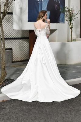 Standamt Hochzeitskleid A Linie | Brautkleider Lange Ärmel_4