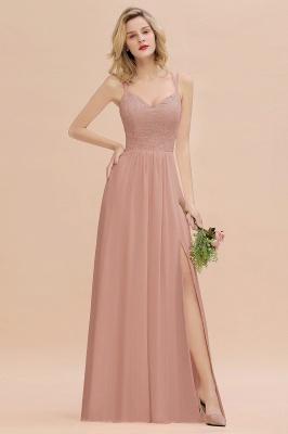 Coral Brautjungfernkleider Lang Günstig   Hochzeitsgäste Kleider_6