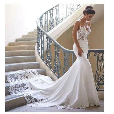 Brautkleid Meerjungfrau Vintage | Schön Hochzeitskleider mit Spitze_4