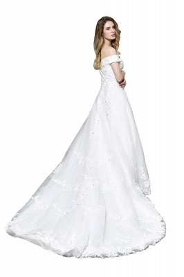 Beautiful wedding dresses with lace | Wedding dress A line_4