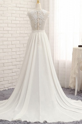 Summer Chiffon Dresses For Wedding | Wedding dresses a line with lace_3