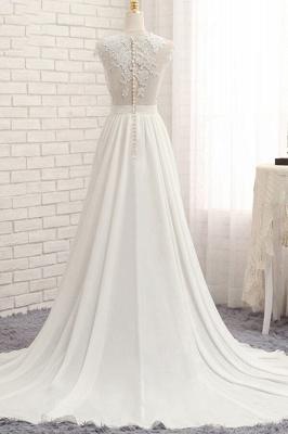 Summer Chiffon Kleider Für Hochzeit | Brautkleider A Linie Mit Spitze_3