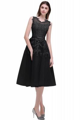Schwarze Cocktailkleider Abiballkleider mit Spitze A Line Kurze Abendkleider Abendmoden Tüll Unter 100€_7