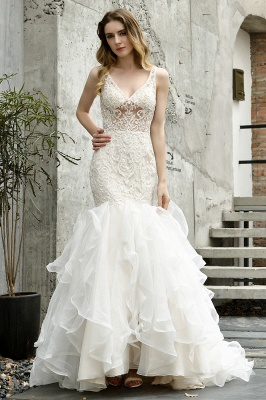 Fashion wedding dress with lace | Mermaid wedding dress_2