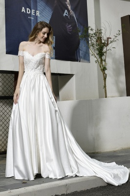 Simple wedding dresses cheap | Wedding dress A line_13