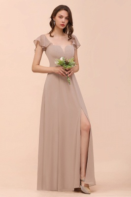 Champagne Brautjungfernkleider Lang | Günstiges Kleid Für Brautjungfern_3