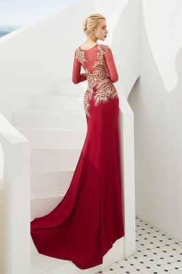 Evening dress long red | Prom dresses with sleeves_13