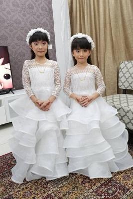 Bblumenmädchen Kleid Spitze | Blumenmädchenkleid Langarm_1