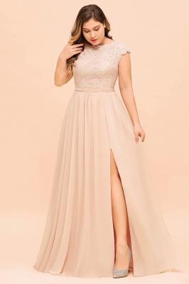 Champagne Übergroße Brautjungfernkleider | Brautjungfernkleid Große Größe_5