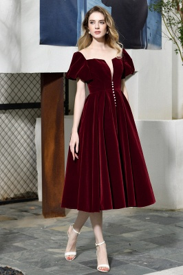 Evening dresses short wine red | Cocktail dresses cheap online_4