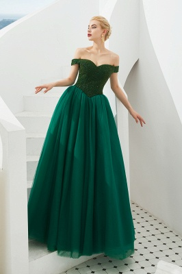 Evening dress long green | Prom Dresses Cheap Online_7