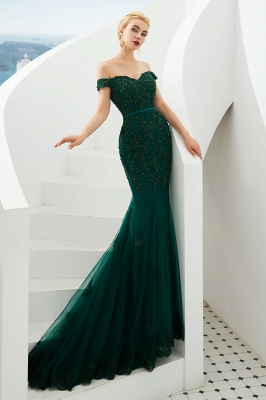 Evening dress green | Long lace prom dresses_10