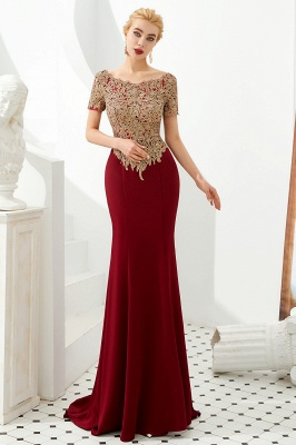 Evening dresses long glitter | Red prom dresses with sleeves_8