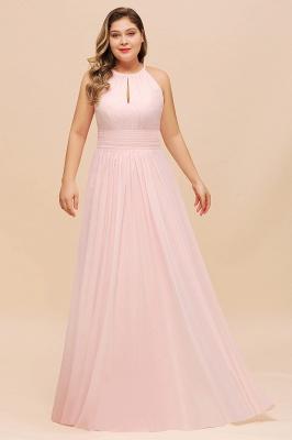 Rosa Brautjungfernkleider Große Größe   Übergroße Brautjungfernkleid_4