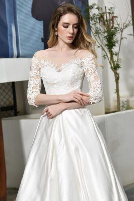 Standamt Hochzeitskleid A Linie | Brautkleider Lange Ärmel_12