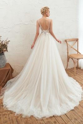 Elegante Hochzeitskleid A linie | Brautkleider Chiffon Günstig Online_8