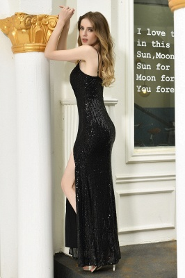 Evening dress long black | Prom dresses with glitter_11