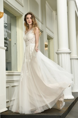 Elegant brewing dresses A line | Wedding dresses with lace_10