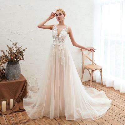 Schöne Hochzeitskleid A linie | Brautkleider Günstig Online Kaufen_5