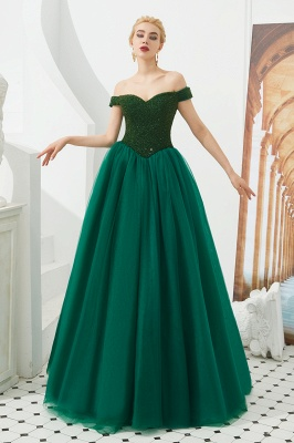Evening dress long green | Prom Dresses Cheap Online_8