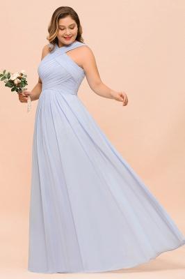 Lavender Brautjungfernkleider Große Größe | Chiffon Kleider Lang Günstig_7