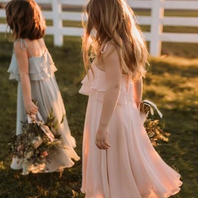 Blumenmädchenkleider für Kinder | Blumenmädchen Kleid Hellblau_2