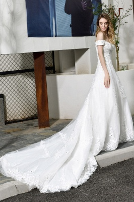 Beautiful wedding dresses with lace | Wedding dress A line_6