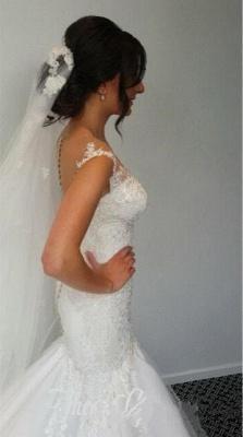 Made to measure wedding dresses white lace mermaid straps wedding fashions bridal fashions_5