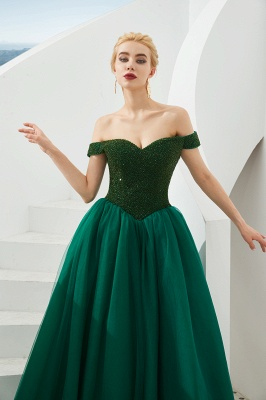 Evening dress long green | Prom Dresses Cheap Online_9