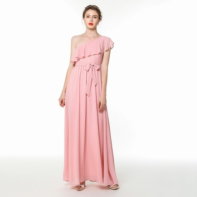 Evening dress long pink | Chiffon dresses