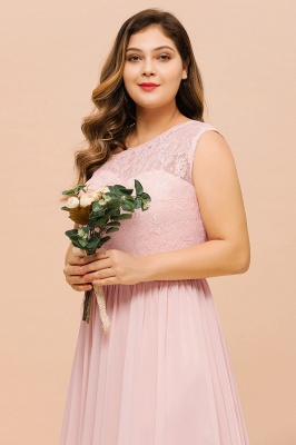 Elegante Brautjungfernkleider Lang Rosa | Brautjungfernkleid mit Spitze_9