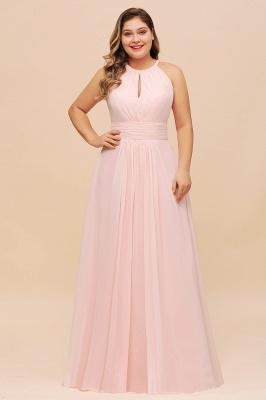 Rosa Brautjungfernkleider Große Größe   Übergroße Brautjungfernkleid_1