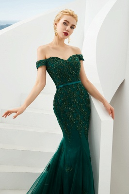 Evening dress green | Long lace prom dresses_5